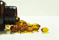 Omega-3 capsules Stock Image