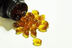 Omega-3 capsules Stock Photos