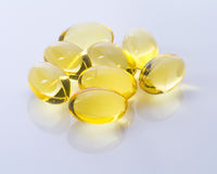 Omega-3 capsules Royalty Free Stock Photography