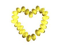 Omega-3 capsules Stock Images
