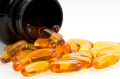 Omega 3 comprimidos Foto de Stock Royalty Free