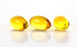 Omega 3 pillole Fotografia Stock