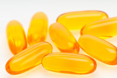 Omega 3 pills closeup Royalty Free Stock Photo
