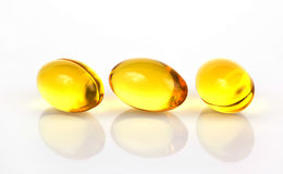 Omega 3 pillules Photo stock