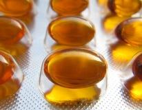 Omega 3 Tabletten im Folien-Paket Lizenzfreies Stockbild