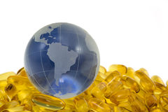 Omega 3 for World Royalty Free Stock Photography