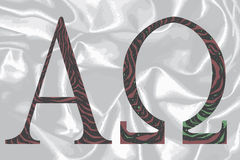 Omega alfa stock de ilustración