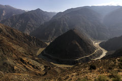 Omega Bend of Yangtze River Yunan, China Stock Photography