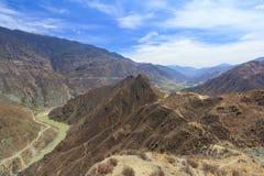 Omega Bend of Yangtze River, Yunnan, China stock photography