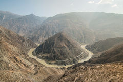 The Omega Bend of Yangtze River, Yunnan Province, China Royalty Free Stock Photo