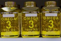 Omega 3 capsules d'huile de poisson Photo libre de droits