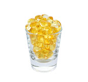 Omega 3 capsules from Fish Oil Stock Photography