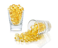 Omega 3 capsules from Fish Oil Stock Photos