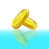Omega 3 capsules from Fish Oil Royalty Free Stock Image