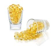 Omega 3 capsules van Vistraan Stock Foto's