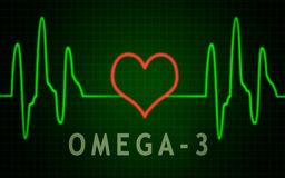 Omega-3 vector illustration