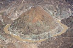 Omega curve of Yangtze River, Yunnan Province, China Royalty Free Stock Photo