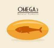 Omega design, vector illustration. Royalty Free Stock Photography