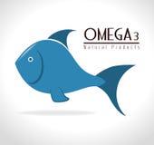 Omega design, vector illustration. Royalty Free Stock Image