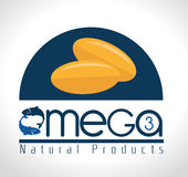 Omega design, vector illustration. Royalty Free Stock Images
