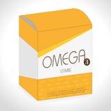 Omega design, vector illustration. Stock Images