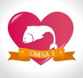 Omega design, vector illustration. Stock Photography
