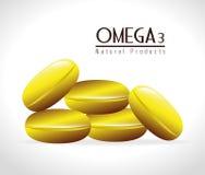 Omega design, vector illustration. Stock Image