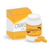 Omega 3 design, vector illustration. Stock Photos