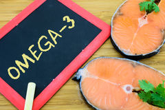 Omega-3 или DHA в морских рыбах Стоковые Изображения