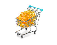 Omega 3 fish fatty acids shopping. Stock Images