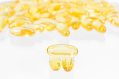 Omega 3 fish oil capsules Stock Image
