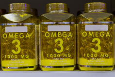 Omega 3 fish oil capsules Royalty Free Stock Photo