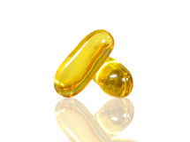 Omega Fish Oil  capsules Stock Images