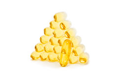 Omega Fish Oil pills Royalty Free Stock Images