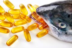 Omega-3 with fish Royalty Free Stock Photo
