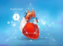 Omega 3 Gezond Hart stock illustratie