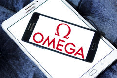 Omega logo Stock Photo
