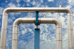 Omega loop steam pipeline for industrial. Royalty Free Stock Photo