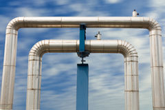 Omega loop steam pipeline. Royalty Free Stock Images