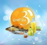omega 3 ilustracji