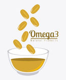 Omega  oil design. Stock Photos