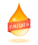 Omega 6 oil drop Stock Photography