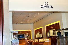 omega opslag in Schiphol luchthaven, Holland Stock Afbeelding