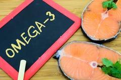 Omega-3 ou DHA em peixes marinhos Imagens de Stock