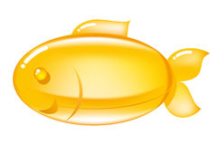 Omega-3 pill. In a shape of a fish Royalty Free Stock Photo