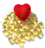 Omega 3 pills Stock Image