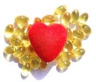 Omega 3 preventivpillerar arkivfoton
