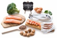 Omega 3 reiche Nahrungsmittel lizenzfreie stockfotos
