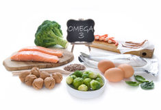 Omega 3 rich foods stock photography