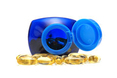 Omega Three Capsules Royalty Free Stock Photography